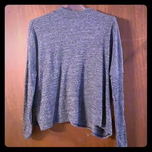 H&M Size L Marled Grey Top
